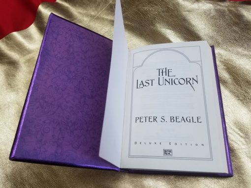 The Last Unicorn Leatherbound Book Collectors Peter S Beagle Leather Replica 16