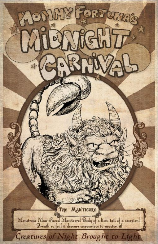 The Last Unicorn Mommy Fortunas Midnight Carnival Posters Unicorn Harpy Satyr Dragon6