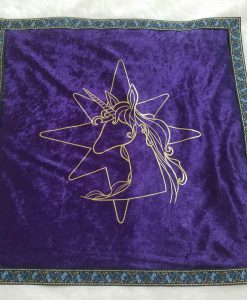 The Last Unicorn Tarot Deck Velvet Reading Cloth
