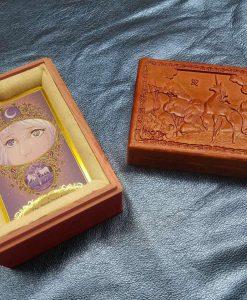 Last Unicorn Tarot Card Carved Ornate Deck Box