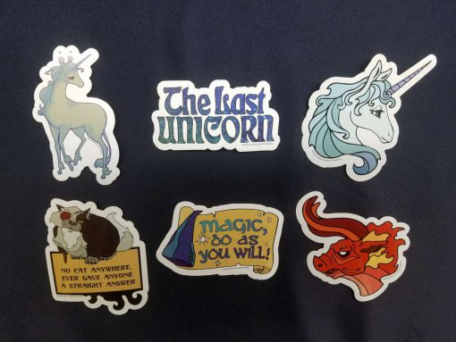 The Last Unicorn Peter S Beagle Officially Licensed Stickers Decals 2