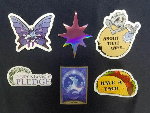 The Last Unicorn Peter S Beagle Officially Licensed Stickers Decals 3
