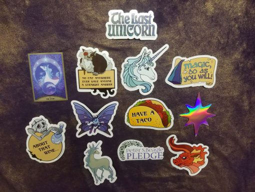 The Last Unicorn Peter S Beagle Officially Licensed Stickers Decals 7