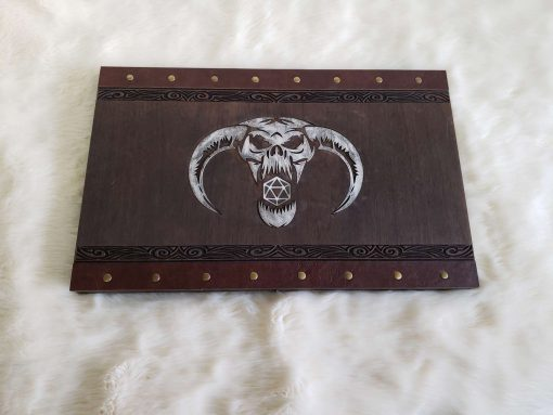 Custom Dungeon Master Gamng DnD GM Screen Carved Wooden Magnetic 10