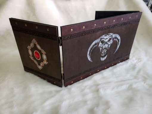 Custom Dungeon Master Gamng DnD GM Screen Carved Wooden Magnetic 15