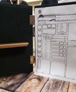 Custom Dungeon Master Gamng DnD GM Screen Carved Wooden Magnetic 22