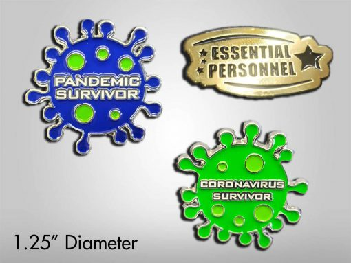 Coronavirus Pandemic Enamel Pin Set